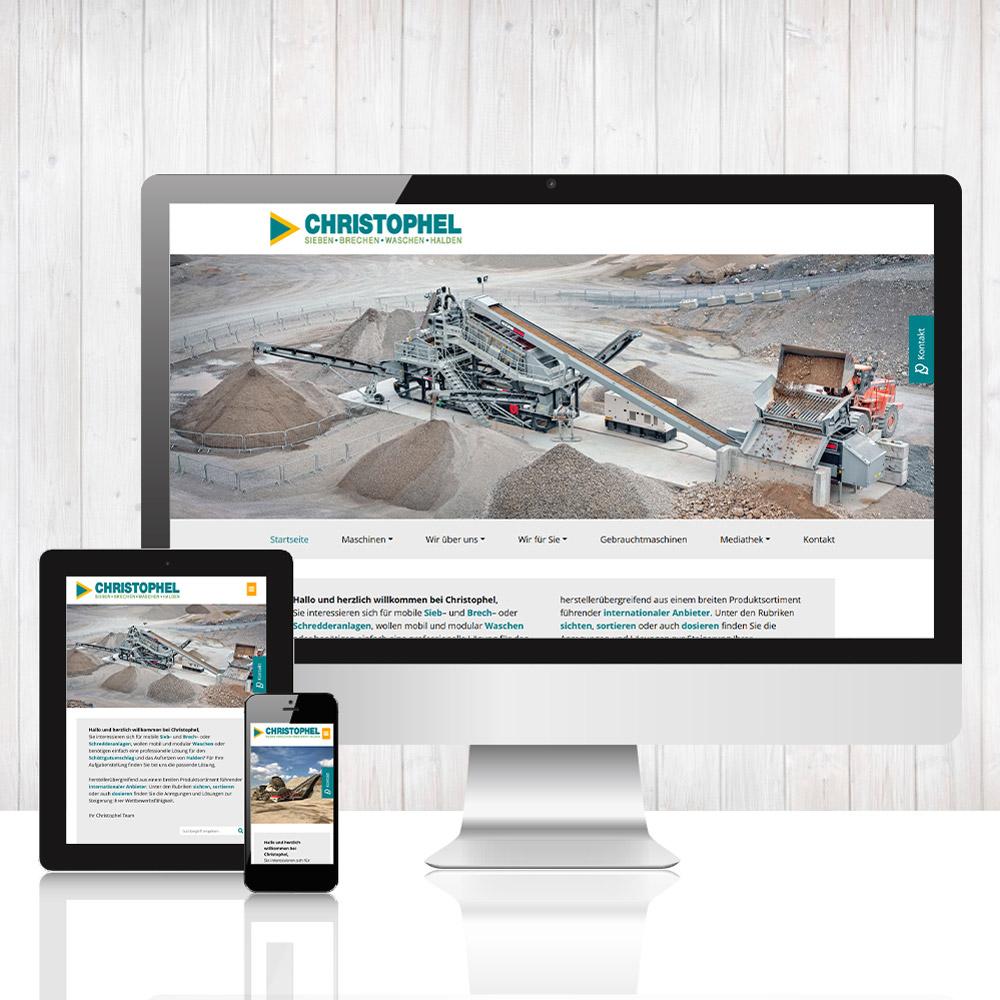 C. Christophel GmbH - Sieben, Brechen, Waschen, Halden